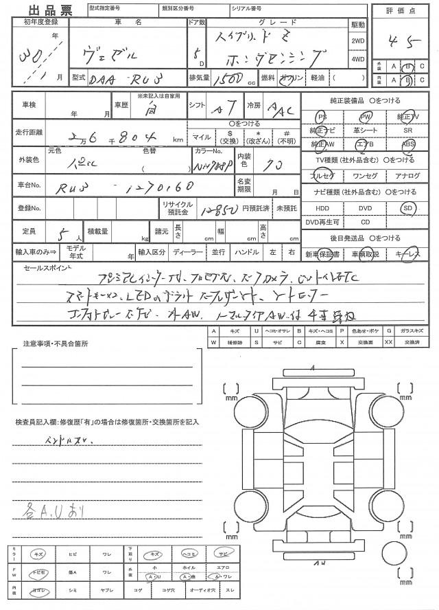 Honda Vezel 2018 Japanese Used Cars Gliontrading