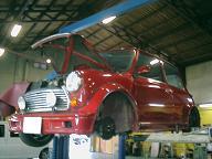 車検整備中のミニERAターボ