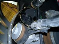 左リア車速センサーの装着箇所