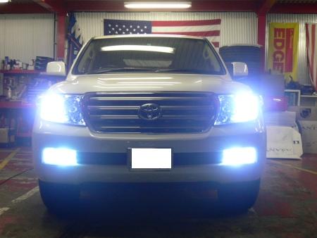 トヨタ ランドクルーザー ランクル 200系 09y カスタム HID LED ダウンサス 取り付け カスタム 大阪 ガレージアクト