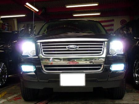 フォード エクスプローラー カスタム HID LED クローム カスタムパーツ ラグジュアリー 持込パーツ アメ車 専門店 大阪 ガレージアクト