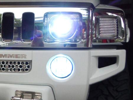 ハマー HID化 ヘッドライト フォグライト アメ車 専門店 大阪 ガレージアクト