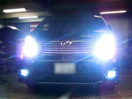 ヴェルファイア HID化 LED化 ヘッドライト フォグライト ポジション バックライト シグナル球 指示器 LED販売 通販 取り付け ラグジュアリー カスタム 専門店 大阪 ガレージアクト