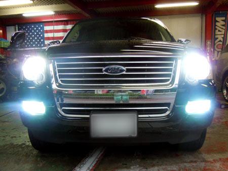フォード エクスプローラー HID LED ポジションランプ ナンバー灯 クロームバルブ カスタム パーツ 販売 通販 アメ車 専門店 大阪 ガレージアクト