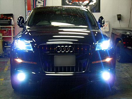 audi Q7 HID 取付 販売 HID化 LED ラグジュアリー 外車 専門店 大阪 ガレージアクト
