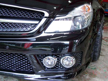 メルセデスベンツ SL63AMG ワイドボディ BLACK 装着 鈑金 取付 販売 WORKS グノーシスGS2 ホイール 輸入車 専門店 大阪 ガレージアクト