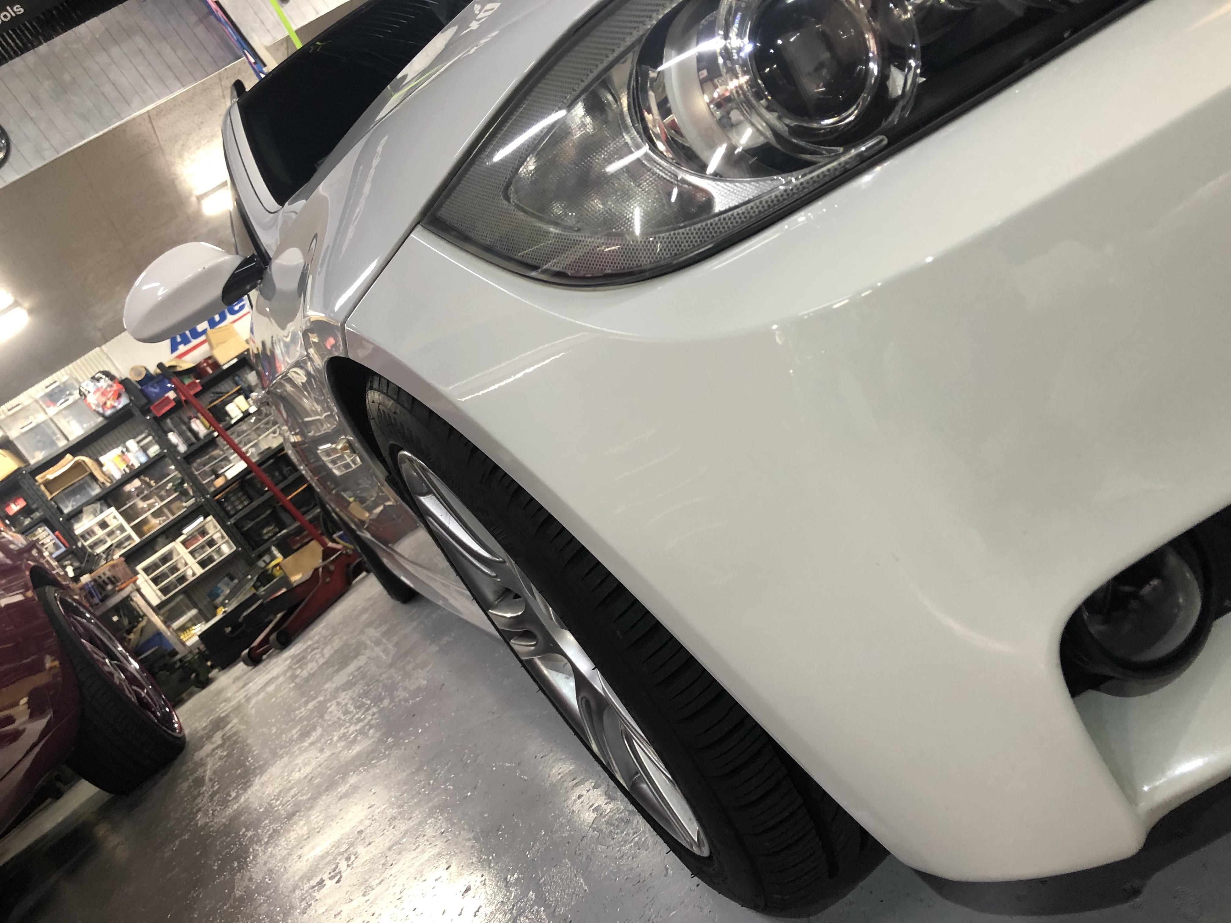 BMW E91 ワイドトレッドスペーサー 取付